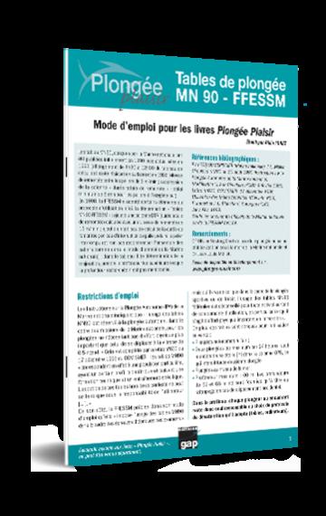 Mode d'emploi des tables de plongée MN90 – FFESSM