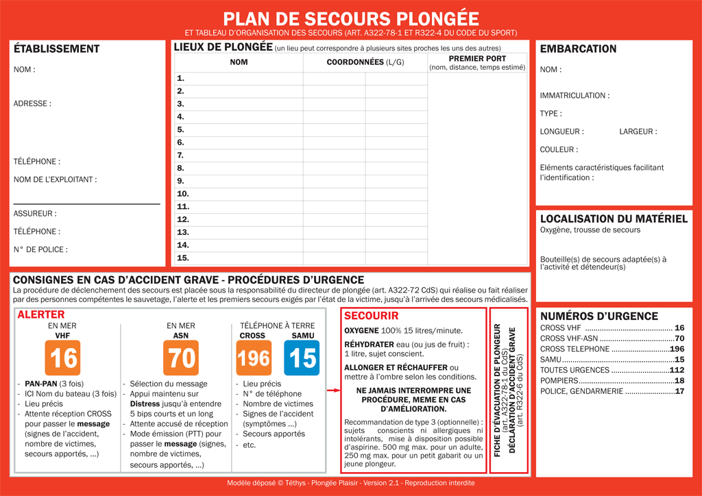 Plan De Secours Plong 233 E Plaisir Site Officiel