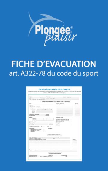 Fiche d'évacuation en cas d'accident de plongée (art. A322-78 du code du sport)