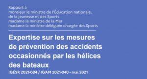 """Rapport """"Expertise sur les mesures de prévention des accidents occasionnés par les hélices des bateaux"""""""